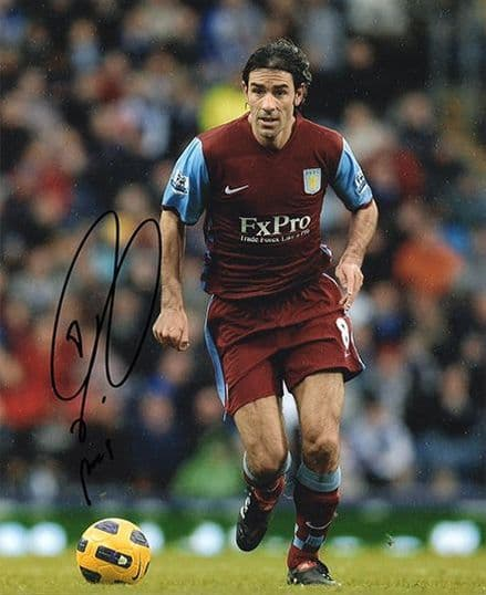 Robert Pires, Aston Villa, France, signed 10x8 inch photo.