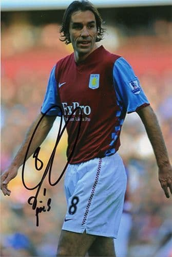 Robert Pires, Aston Villa & France, signed 6x4 inch photo.