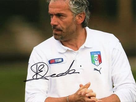 Roberto Donadoni, Italy manager, signed 8x6 inch photo.