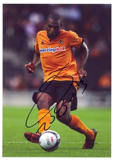 Ronald Zubar, Wolves, signed 7x5 inch photo.