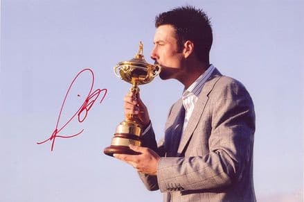Ross Fisher, Ryder Cup 2010 Celtic Manor, signed 12x8 inch photo.