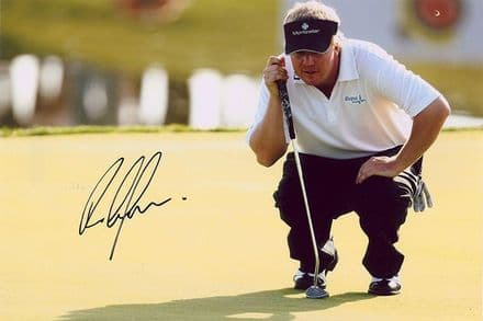 Ross McGowan, English golfer, signed 12x8 inch photo.