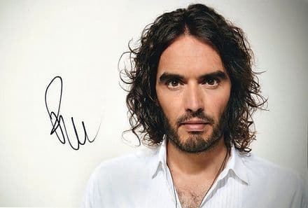 Russell Brand, actor, author, comedian, signed 10x8 inch photo.