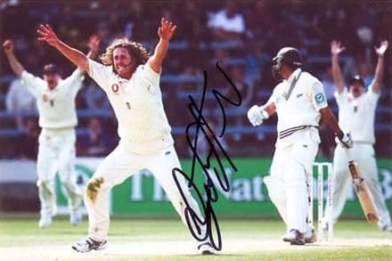 Ryan Sidebottom, Yorkshire & England, signed 6x4 inch photo.