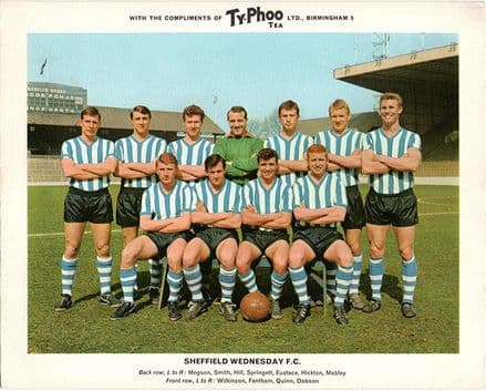 Sheffield Wednesday, vintage 1960's Typhoo Tea card.