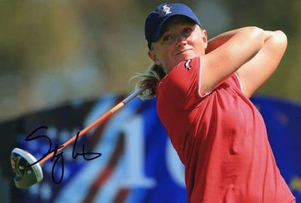 Stacy Lewis, signed 12x8 inch photo.(2)