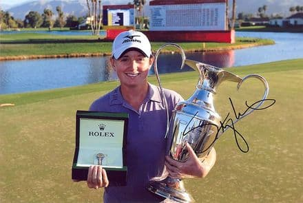 Stacy Lewis, signed 12x8 inch photo.