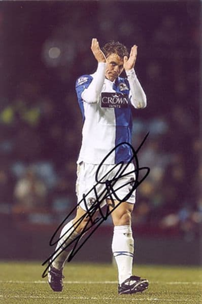 Stephen Warnock, Blackburn Rovers, signed 6x4 inch photo.