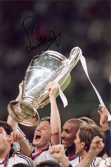 Steve McManaman, Real Madrid & England, signed 12x8 inch photo.
