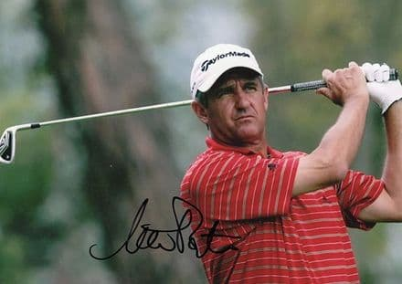Steve Pate, American golfer, signed 7x5 inch colour photo.