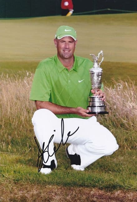 Stewart Cink, Open Champion 2009 Turnberry, signed 12x8 inch photo.