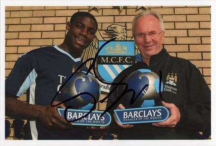 Sven-Goran Eriksson, Manchester City, signed 6x4 inch photo.