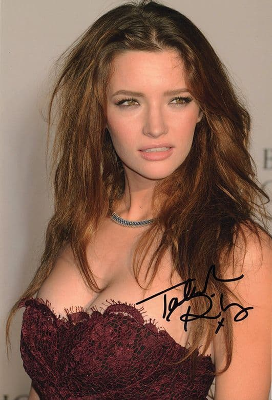 Talulah Riley, Westworld, Doctor Who, signed 12x8 inch photo.