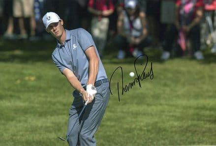 Thomas Pieters, Ryder Cup 2016 Hazeltine, signed 12x8 inch photo.