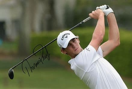 Thomas Pieters, signed 12x8 inch photo.