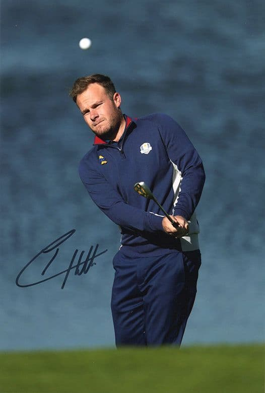 Tyrrell Hatton, Ryder Cup 2018 Le Golf National Paris, signed 12x8 inch photo.