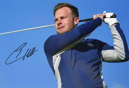 Tyrrell Hatton, Ryder Cup 2018 Paris, signed 12x8 inch photo.