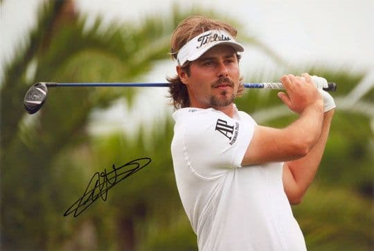 Victor Dubuisson, Ryder Cup golfer, signed 12x8 inch photo.