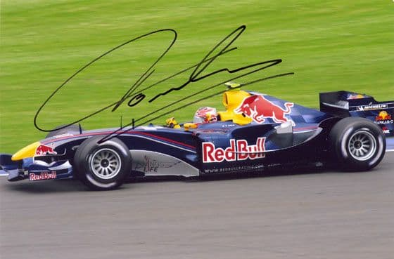 Vitantonio Liuzzi, signed 9x6 inch photo.