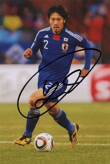 Yuki Abe, Leicester City & Japan, signed 6x4 inch photo. (2)