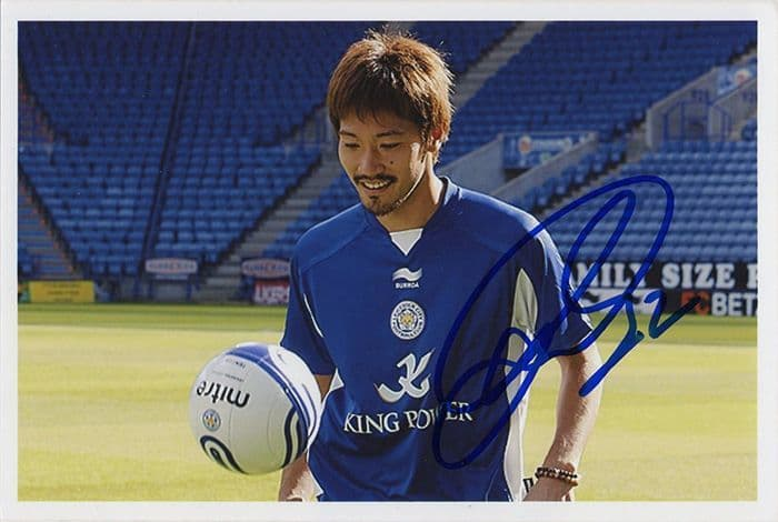 Yuki Abe, Leicester City, signed 6x4 inch photo.