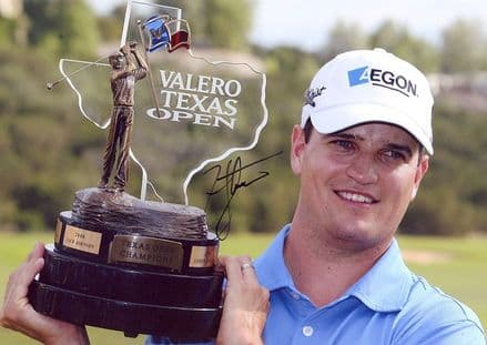 Zach Johnson, Valero Texas Open 2008, signed 11x8 inch photo.