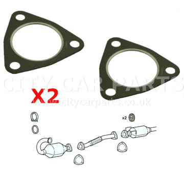 2 x Citroen Relay 2.2 Diesel Front Lower Down Pipe Exhaust Flexible Joint Exhaust Gaskets