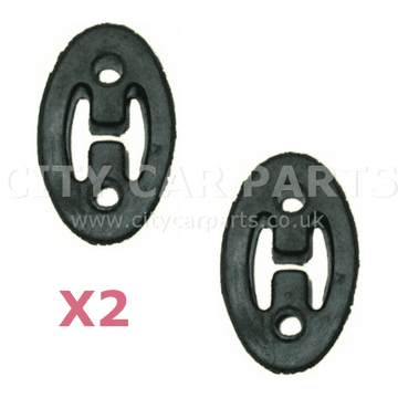 2 X Daihatsu Sirion M100 Mid-Section & Rear Exhaust Mount Holding Rubber Hanger