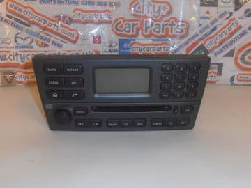 GENUINE JAGUAR X TYPE CD PLAYER RADIO & PHONE CONTROL HEAD UNIT WITH CODE