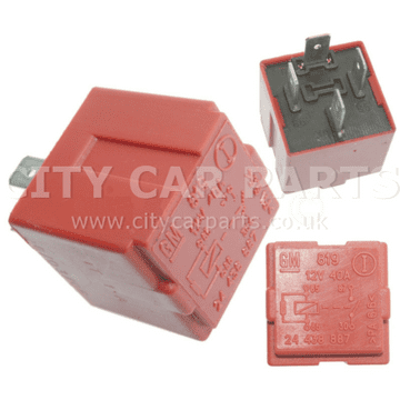 GM24438887 Vauxhall Vectra Astra Zafira Corsa Meriva & SAAB 9-3 Multi-Use Red Relay