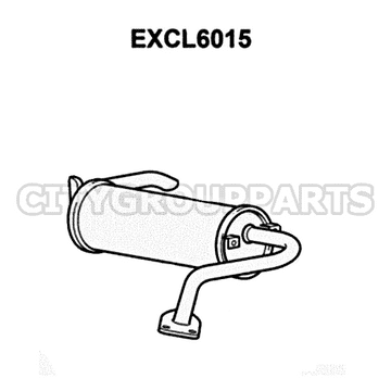 MITSUBISHI SHOGUN PININ MODELS FROM 1999 TO 2006 REAR BACK BOX SILENCER EXCL6015
