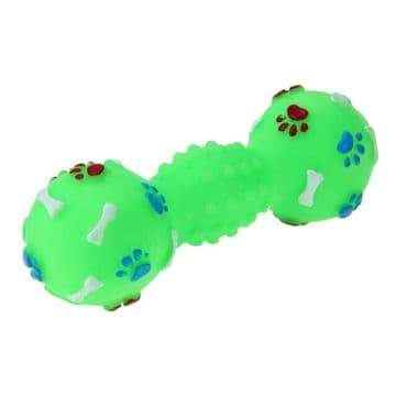 Molar Bite Dumbbell Clean Chew Toys Pet Branch Shape Squeaky Interactive Playing