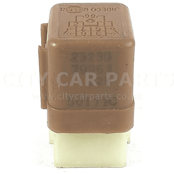 Nissan Radiator Fan Relay 25230-79963 OEM 6-Pin Brown Main JIDECO 12V