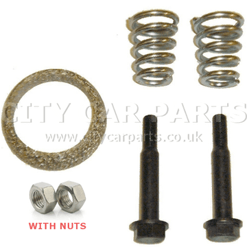 Peugeot 107 1.0 Models 05-11 Exhaust Manifold Fitting Kit Gasket, Bolts, Springs