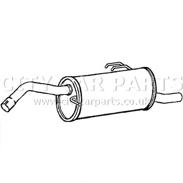 Smart Forfour 1.1 & 1.3 Models 2004 To 2007 Rear Exhaust Rear Silencer Box