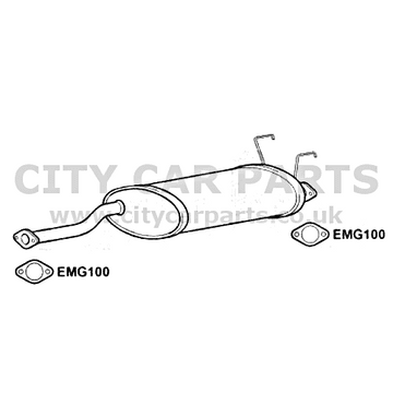 SSANGYONG REXTON 2.9 DIESEL ATV/SUV EXHAUST SILENCER MIDDLE BOX EXSG3004