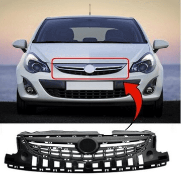 Vauxhall Corsa D 2011 To 2014 Upper Centre Front Bumper Grille Insurance Approved