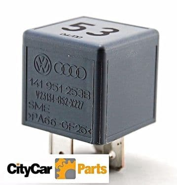 VW Volkswagen Audi Porsche Multi-Purpose Relay 141-951-253B Has  4 Pins