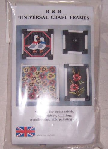 "9"" x 9"" Clip Hand Frame from R & R Craft Frames. For cross stitch or embroidery."