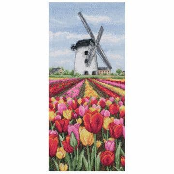 Anchor Dutch Tulips Landscape Cross Stitch Kit - PCE0806