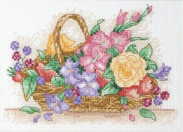 Anchor Floral Basket Starter Cross Stitch Kit - AK117