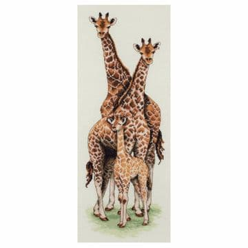Anchor Giraffe Family  Cross Stitch Kit - PCE750