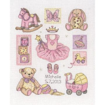 Anchor Girl Birth Sampler  Cross Stitch Kit - ACS 38