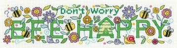 Bee Happy  from  Karen Carter Collection Cross Stitch Kit