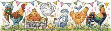 Chicken Run from  Karen Carter Collection Cross Stitch Kit