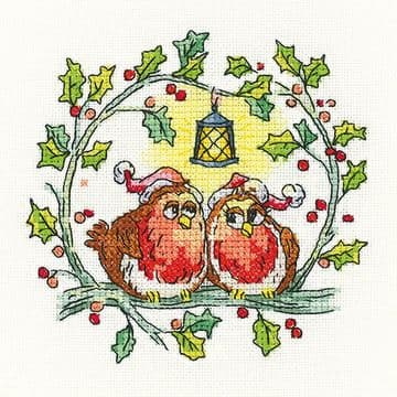 Christmas Robins Cross Stitch Kit