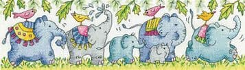 Elephants on Parade   from  Karen Carter Collection Cross Stitch Kit