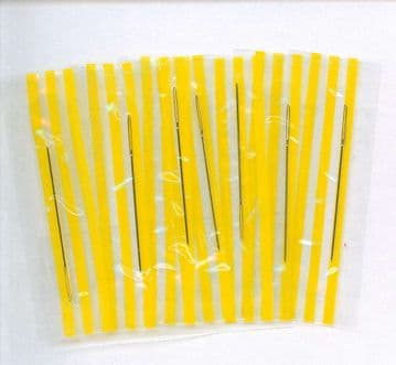 Gold Plated Cross Stitch Needles Individually Wrapped - Size 26
