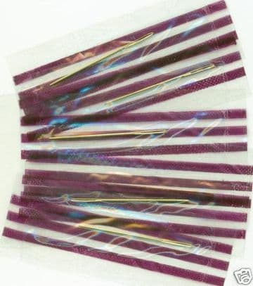 Gold Plated Cross Stitch Needles Individually Wrapped -Size 28