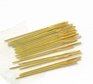 Gold Plated Cross Stitch Needles (Loose) -Size 26